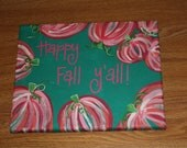 8x10 Lilly Pulitzer inspired fall print