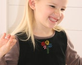 Divine dress woolen fully lined with cute embroidery