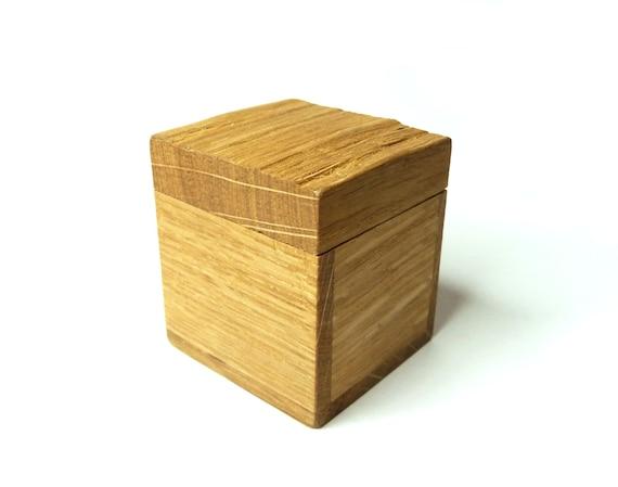 Wooden Box Ring Box Oak wood Jewelry Box Gift Box Natural Wood Ecological Box Holiday Gift