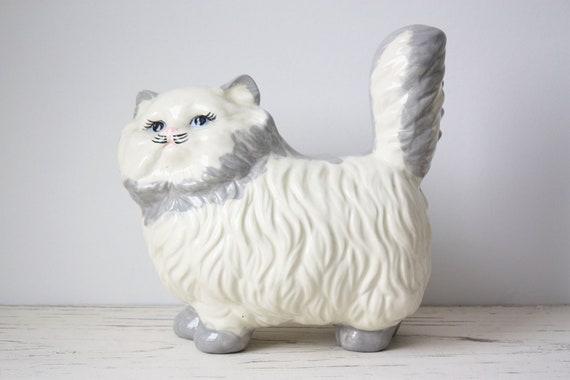 Vintage Large Cat Ceramic Figurine