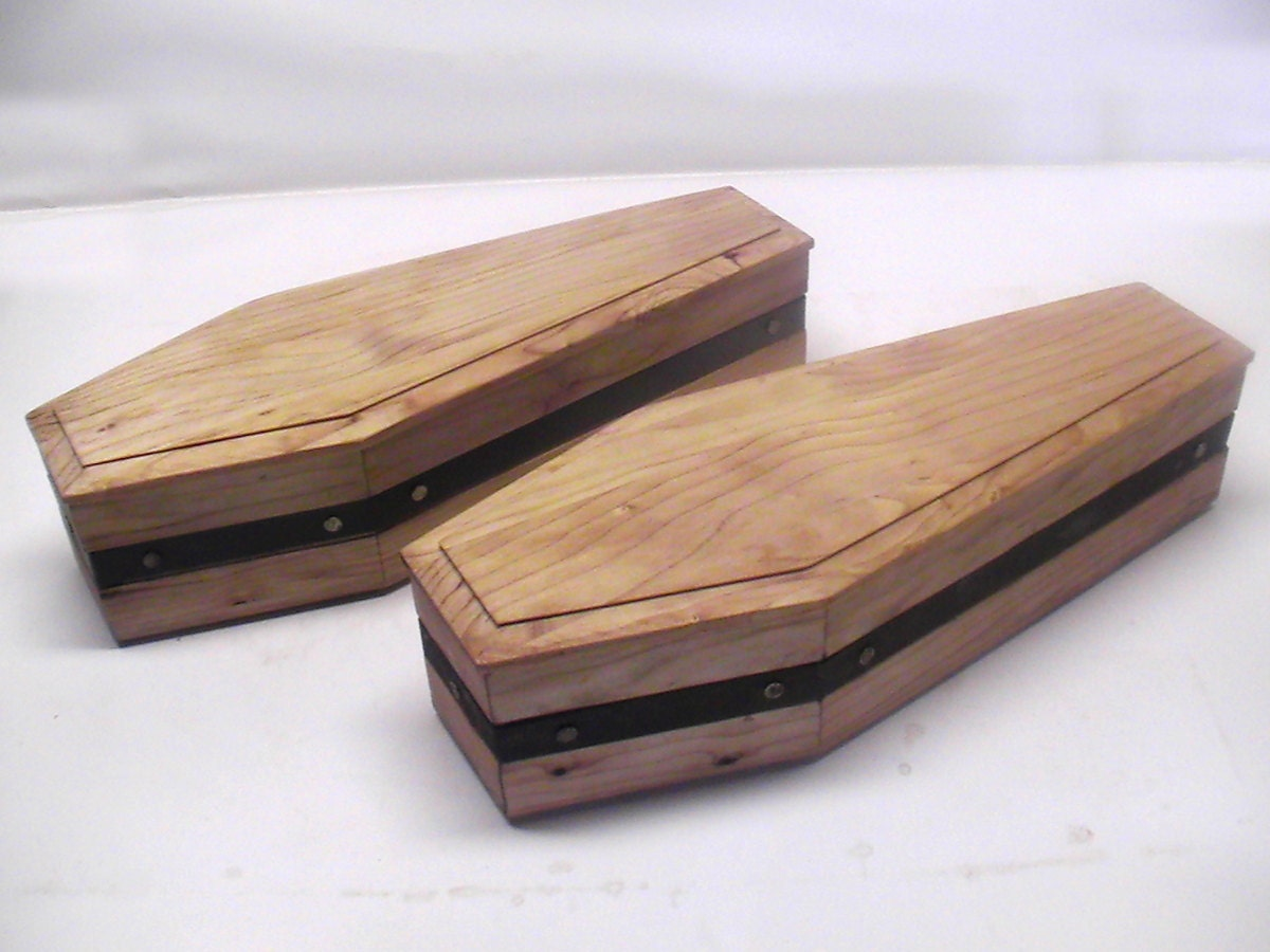 Unfinished Wood Coffin - Fall Craft Supplies - Fall and Halloween ...