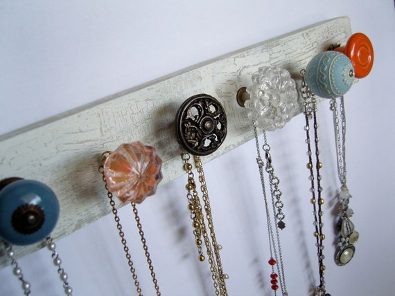 PInk, Blue, and Coral Jewelry Rack