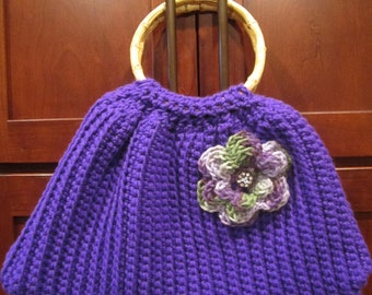 Crochet Flower Power Purse