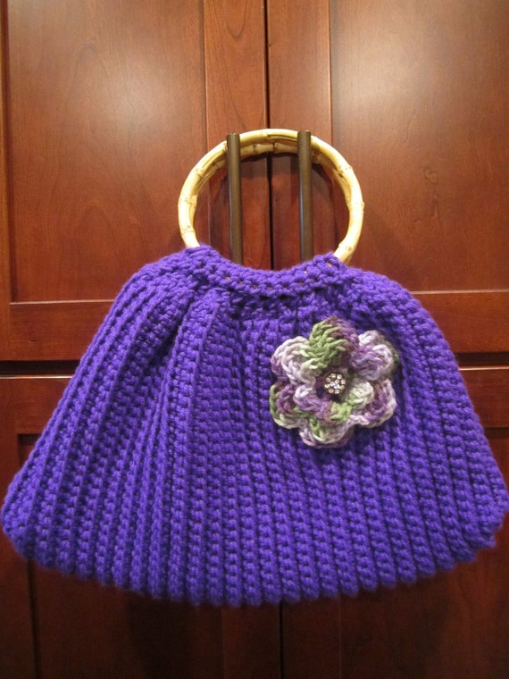 Crochet Flower Bag : Crochet Flower Power Purse by GimletmamaandherMama on Etsy