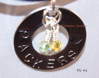FOOTBALL- (Greenbay Packers) Charm/Necklace