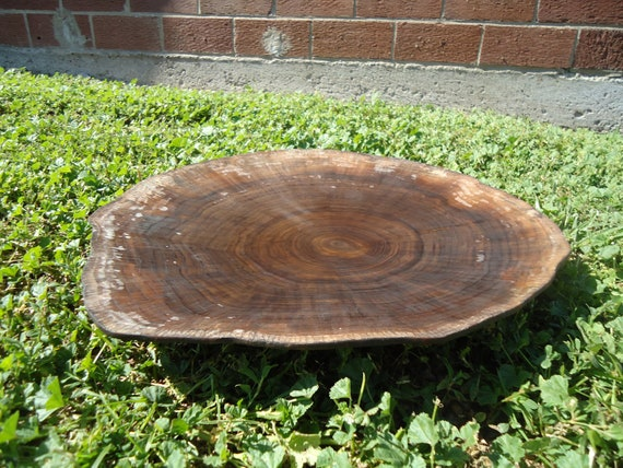Outstanding, hand carved black walnut plate and serving tray, skillfully crafted