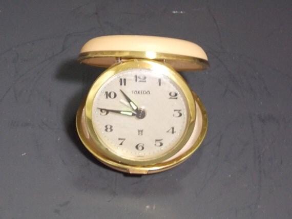 Vintage Working  Takeda Travel Clock