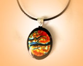 Dichroic Glass Pendant Necklace