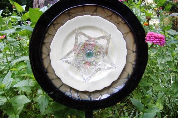 Glass Plate Flower Marci