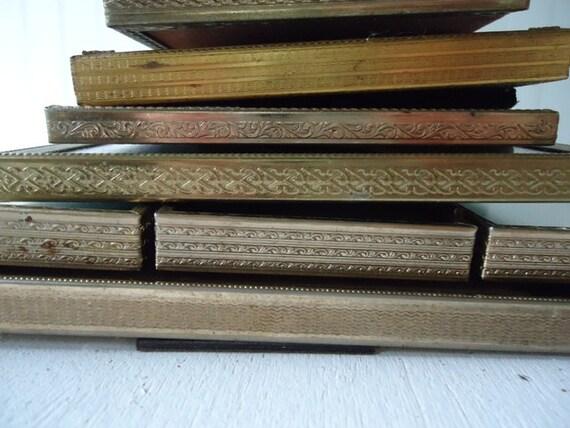 Vintage Brass Frames, Wedding Table Number Frames