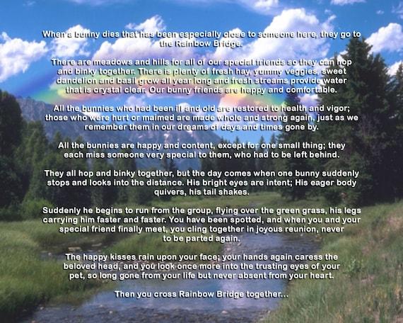 Rainbow Bridge Memorial Stone : Unavailable listing on etsy