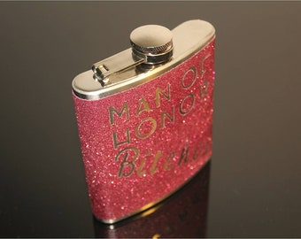 Man Of Honor Gift Flask - Customizable