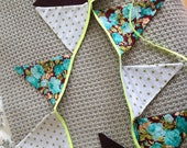 Bannière/Guirlande en tissu - Fait main - Exemplaire unique