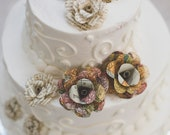 Wedding cake paper flowers