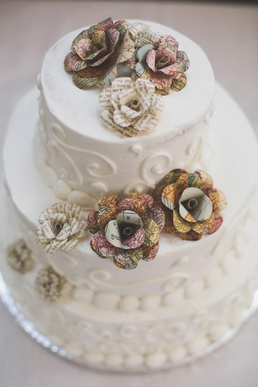 wedding cake paper flowers. Black Bedroom Furniture Sets. Home Design Ideas