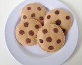 Felt Chocolate Chip Cookie Play Set
