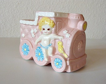 1985 Baby Planter Train Giftwares Co Japan