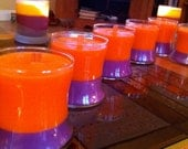 Harvest Orange and Violet Soy with Wooden Wick