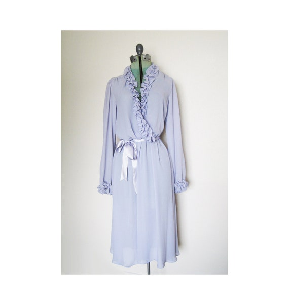 Sale: vintage periwinkle gorgeous dress or lingerie size 13/14 ruffle Argent Fille Ltd.