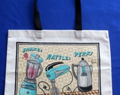 Reusable CANVAS TOTE BAG - Funky 50's Kitchen