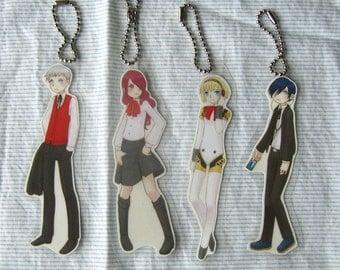 Persona 3 Laminate Key Chain (Set of 4)
