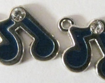 Set of 5 Blue music notes