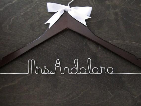 Wedding Hanger - Bridal Hanger Custom Personalized Name
