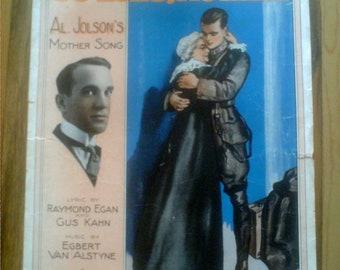 World War I Patriotic Sheet Music  Al Jolson 1917