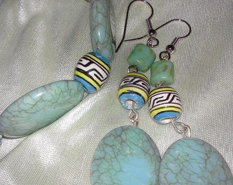 Peruvian and turquoise beads set