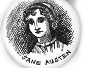 Hand-penned Jane Austen Bisque Ornament