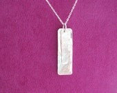 Hammered and Layered Pendant Necklace. Handmade. On Trend. Contemporary. With free anti-tarnish tab.