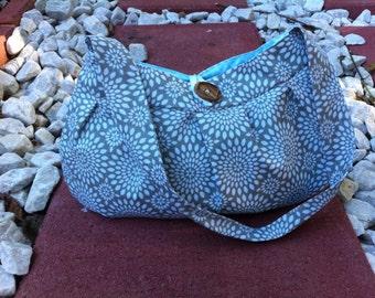 Gray and White Sunburst Bag