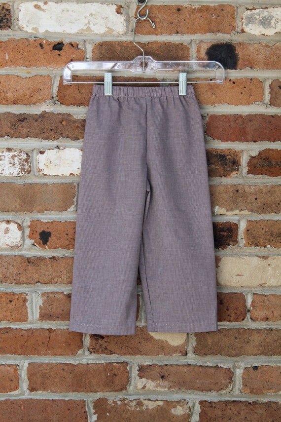 Boys or Girls Fall Pants in Gingham or Tattersall