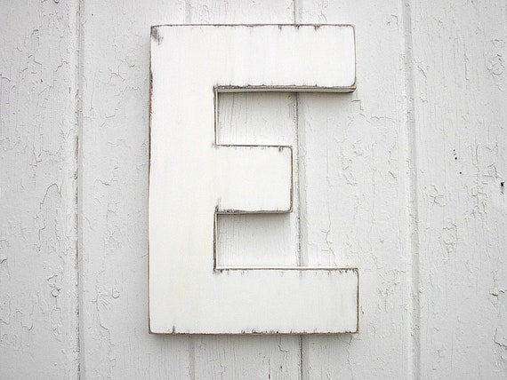 distressed wood letters distressed wooden letters 12 block style e shabby chic 21380 | il 570xN.402060144 glac