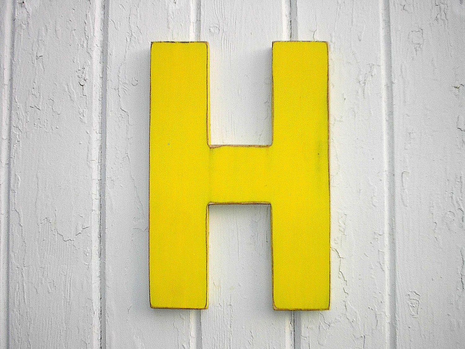 Wooden letters h wall letter wood sign big 12 inch - Wood letter wall decor ...