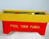 Vintage Lego Ceramic Pool Table Bank, Japan, Rare