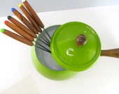 Leaf Green Fondue Set