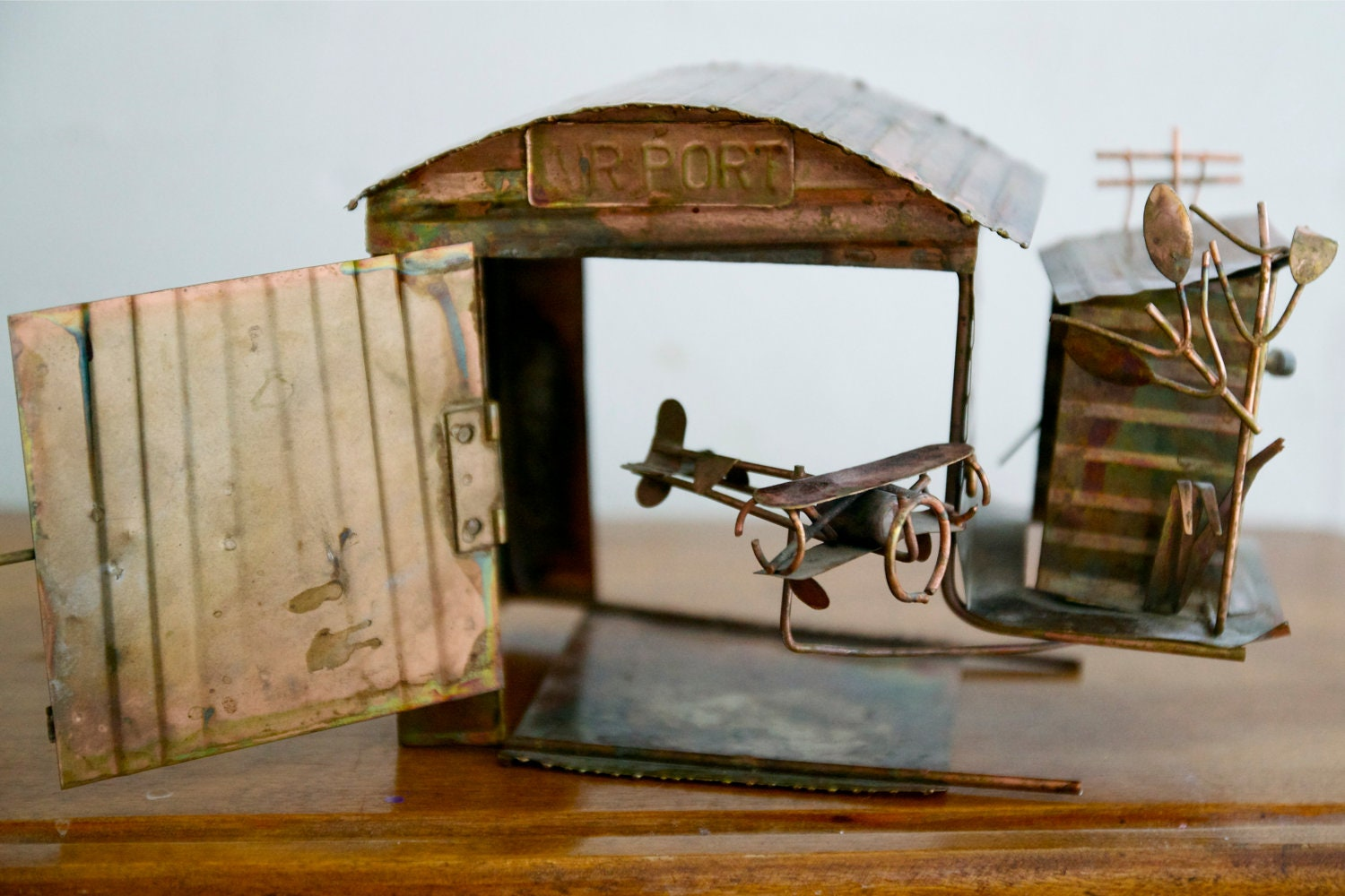 Vintage Copper Airplane Music Box By Mrcg On Etsy