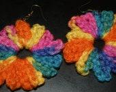 Colorful Crocheted Earrings