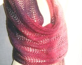 Stole/Scarf In All Shades Of Purple-100% Wool-Warm Multicolor Shawl-Natural Material Kauni