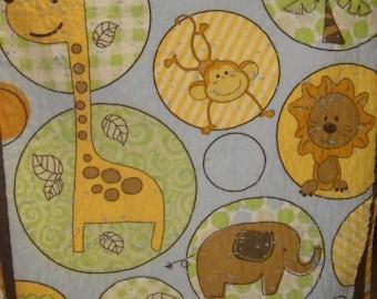 SALE Gender Neutral Baby Bedding Crib Toddler Cot Bedding Jungle Baby Shower Neutral Crib Bedding New Baby Gift Monkey Baptism Gift Homemade