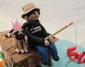 Fondant dog  1 qty Pug dog for birthday party, wedding cake, birthday cake