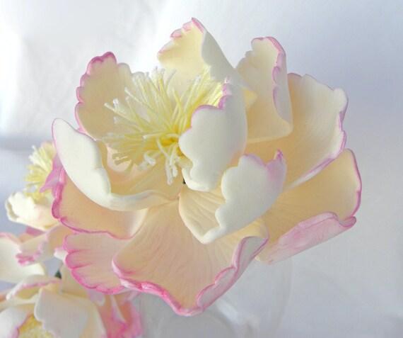 Items Similar To Sugar Flower Wedding Cake Topper Gum Paste Sugar Flower Peony With Center 1