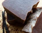 Vanilla Soap, Homemade Soap, Natural Vegan Soap, Vanilla Bean & Cocoa, Large 4.5-5 oz. bars