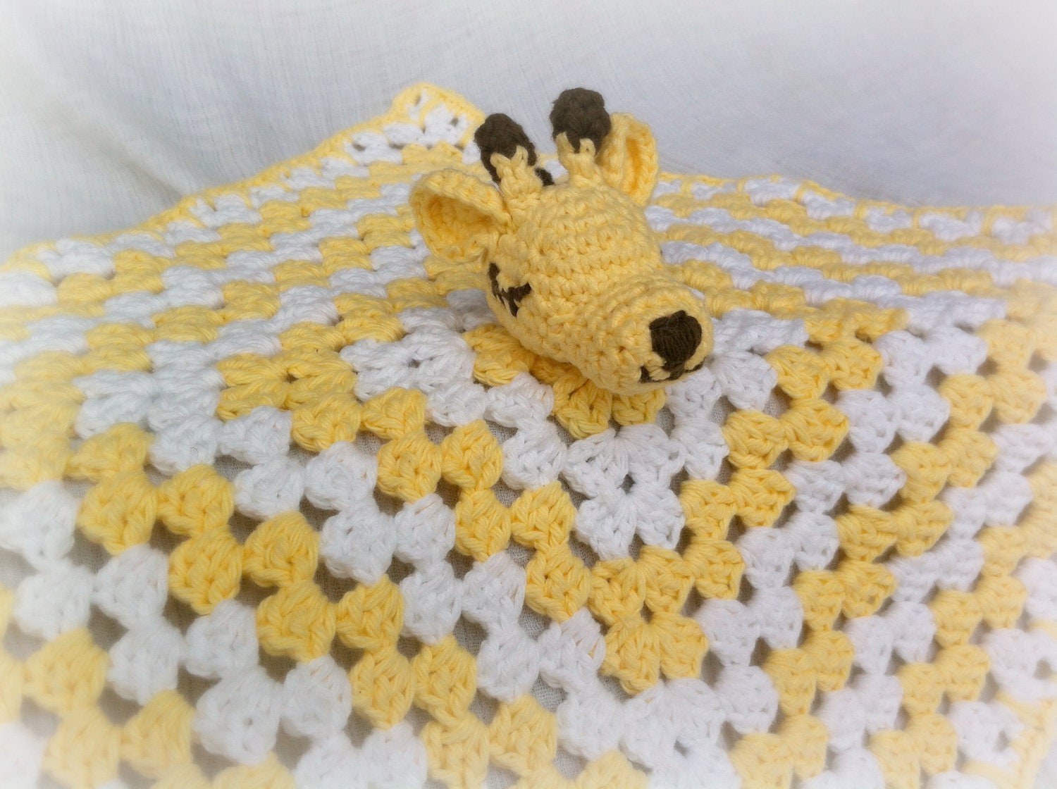 CUSTOM Crochet Baby Giraffe Blanket Lovey Infant by ...