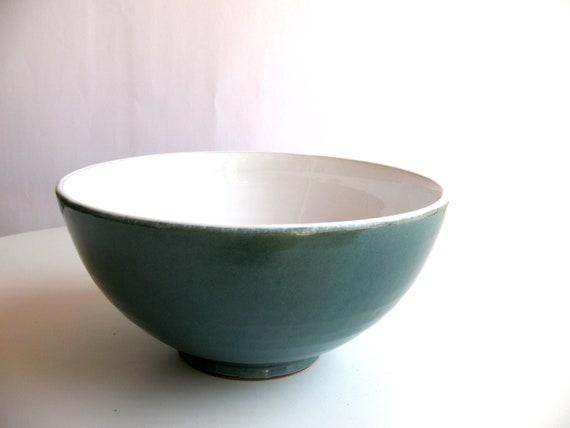 ceramic bowl - glazed pottery - wheel thrown bowl - turquoise glazed bowl - ready to ship