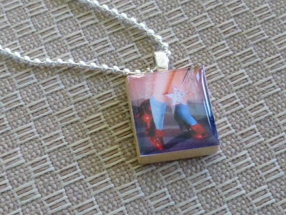 Wizard of Oz Scrabble Tile Charm Necklace