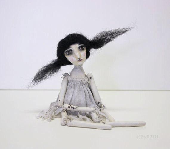 "Clay Girl Art Doll-""Hope"""