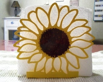 Napkin Holder - Metal - Sunflower - By PrecisionCut