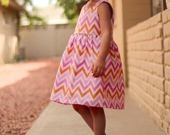 2-in-1 Dahlia Bubble Dress Pattern size 3-8 years